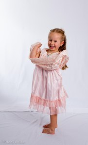 Image of girl in pink dress